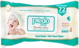 Духи, Парфюмерия, косметика Влажные салфетки для детей, 72шт - Predo Baby