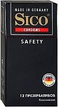"""Парфумерія, косметика Презервативи """"Safety"""", класичні, 12 шт - Sico"""