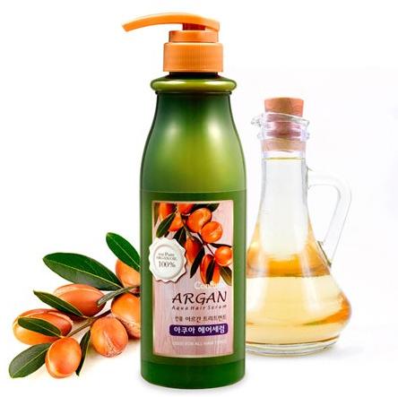 Аква-сыворотка для сухих и жестких волос - Welcos Confume Argan Treatment Aqua Hair Serum