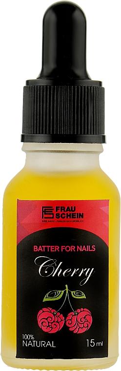 """Баттер жидкий для ногтей и кутикулы """"Вишня"""" с пипеткой - Frau Schein Batter For Nails Cherry"""