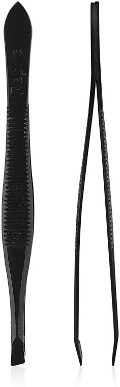 Пинцет для бровей Т350,черный - Rapira