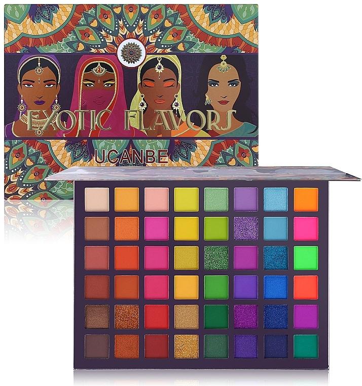 Палетка теней для век, 48 оттенков - Ucanbe Exotic Flavors Eyeshadow Palette