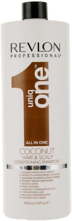 Шампунь-кондиционер с ароматом кокоса - Revlon Professional Uniq One Conditioning Shampoo