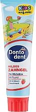 Духи, Парфюмерия, косметика Детская зубная паста - Dontodent Kids Mildes Zahngel