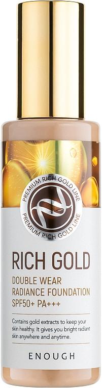 Тональный крем с золотом - Enough Rich Gold Double Wear Radiance Foundation SPF50+ PA+++