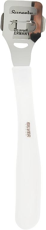 Резец для пяток с лезвиями, SR-10/2, белый - Silver Style