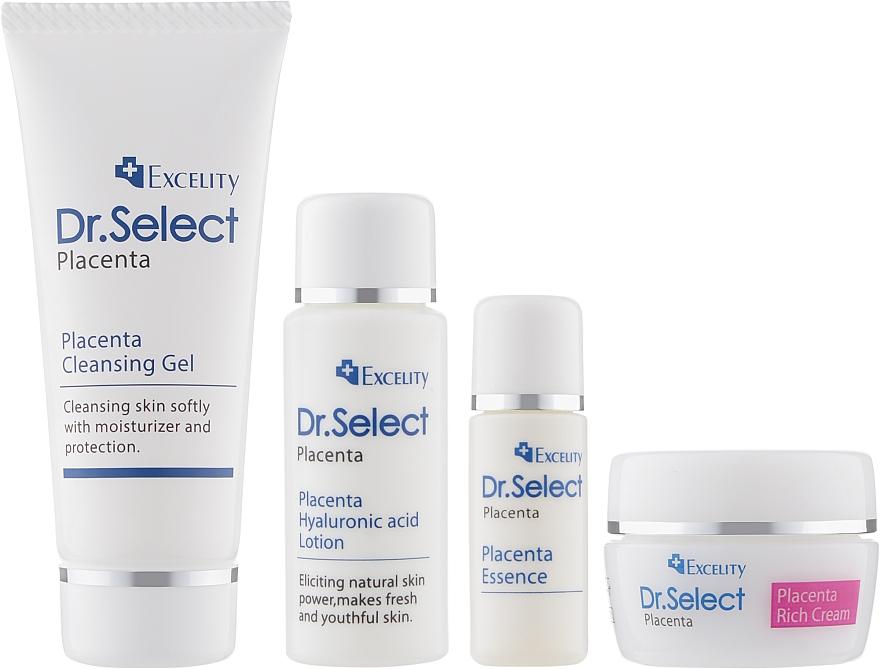 Набор - Dr.Select Excelity Placenta (serum/5ml + cr/8g + lotion/15ml + sh/gel/15ml)