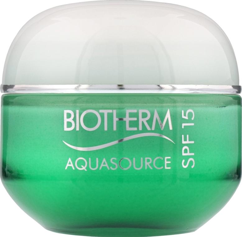 Крем для лица для нормальной и комбинированной кожи - Biotherm Aquasource SPF 15