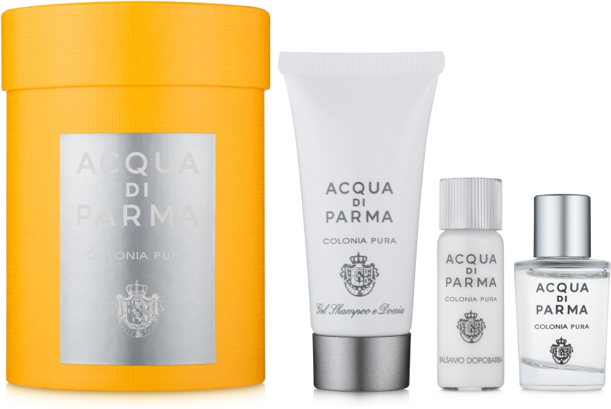 Acqua di Parma Colonia Pura - Набор (edc/5ml+after/sh/balm/5ml+sh/gel/20ml)