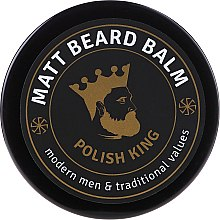 Духи, Парфюмерия, косметика Бальзам для бороды матирующий - Polish King Matt Beard Balm