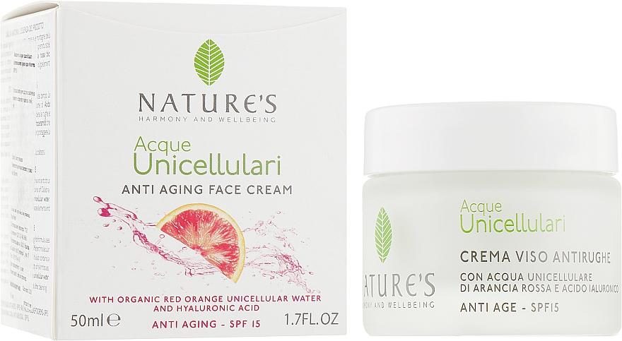 Крем антивозрастной для лица - Nature's Acque Unicellulari Anti-Aging Cream SPF 15