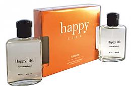 Духи, Парфюмерия, косметика Galterra Happy Life - Набор (edc/90ml + a/sh/lot/90ml) (тестер)