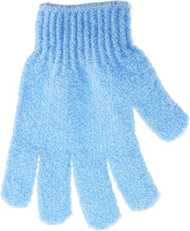 Мочалка-перчатка банная, голубая - Top Choice