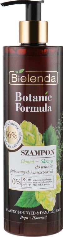 """Шампунь для окрашенных волос """"Хмель и хвощ"""" - Bielenda Botanic Formula Horsetail & Hops Shampoo"""