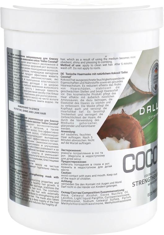 Укрепляющая маска для блеска волос с натуральной кокосовой маслом - Dallas Coconut  — фото N3