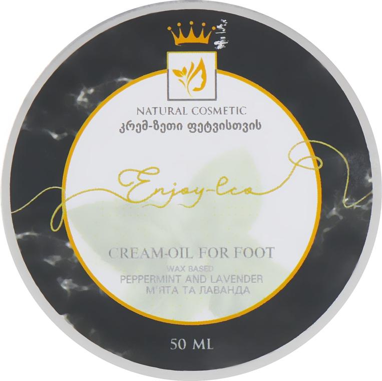 """Натуральное крем-масло для ног """"Мята и лаванда"""" - Enjoy & Joy Enjoy Eco Cream-oil For Foot"""