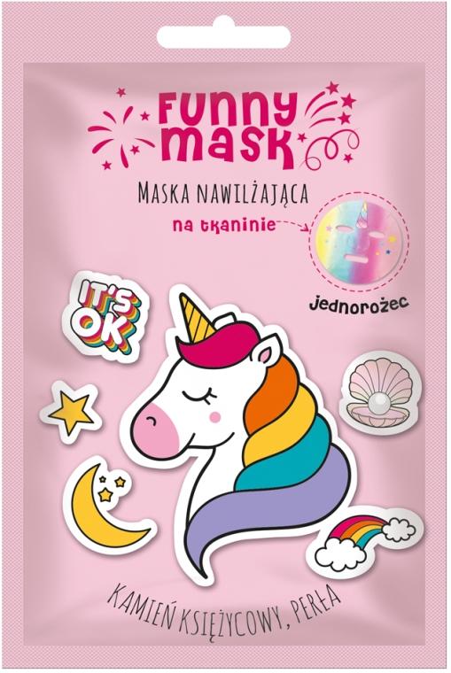 """Увлажняющая маска-патч для лица """"Радужный единорог"""" - Marion Funny Mask"""