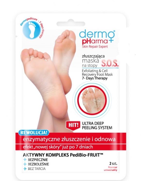 Маска-пилинг для ног - Dermo Pharma Skin Repair Expert S.O.S. Exfoliating & Cell Recovery Foot Mask