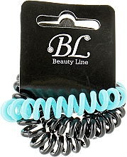 Духи, Парфюмерия, косметика Набор резинок для волос, 405004, черная+черная+голубая - Beauty Line