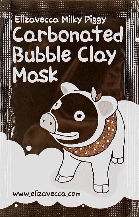 Маска для лица глиняно-пузырьковая - Elizavecca Milky Piggy Carbonated Bubble Clay Mask (пробник)