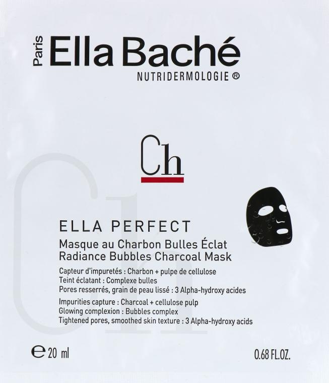 Кислородная маска с углём для сияния кожи - Ella Bache Ella Perfect Radiance Bubbles Charcoal Mask