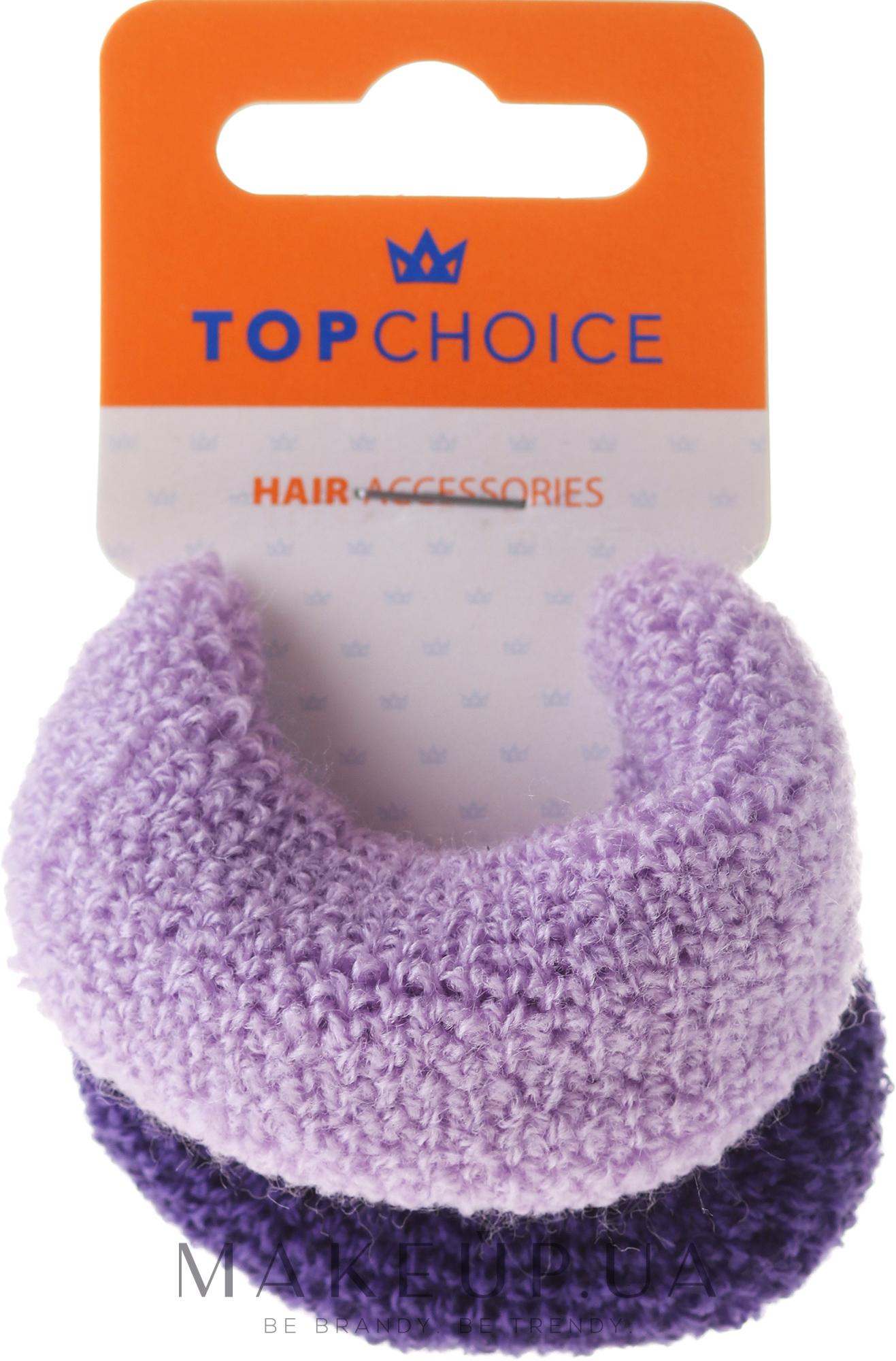 Резинки для волос, фиолетовые mix - Top Choice — фото 2шт