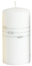 Духи, Парфюмерия, косметика Свеча декоративная белая, 10x7 см - Artman Candle Kolia