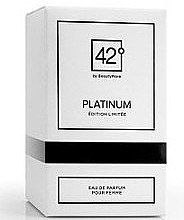 Парфумерія, косметика 42° by Beauty More Platinum Edition Limitee Pour Femme - Парфумована вода
