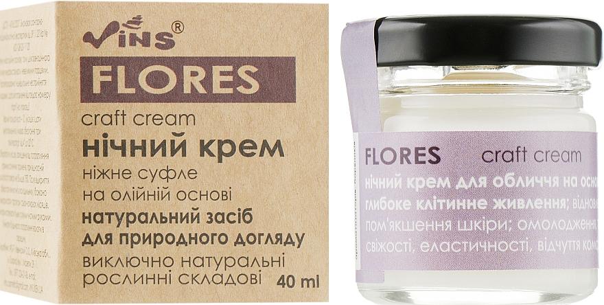 """Ночный масляный крем для лица """"Flores"""" - Vins"""
