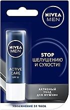 Духи, Парфюмерия, косметика Бальзам для губ для мужчин - Nivea Men Active Care