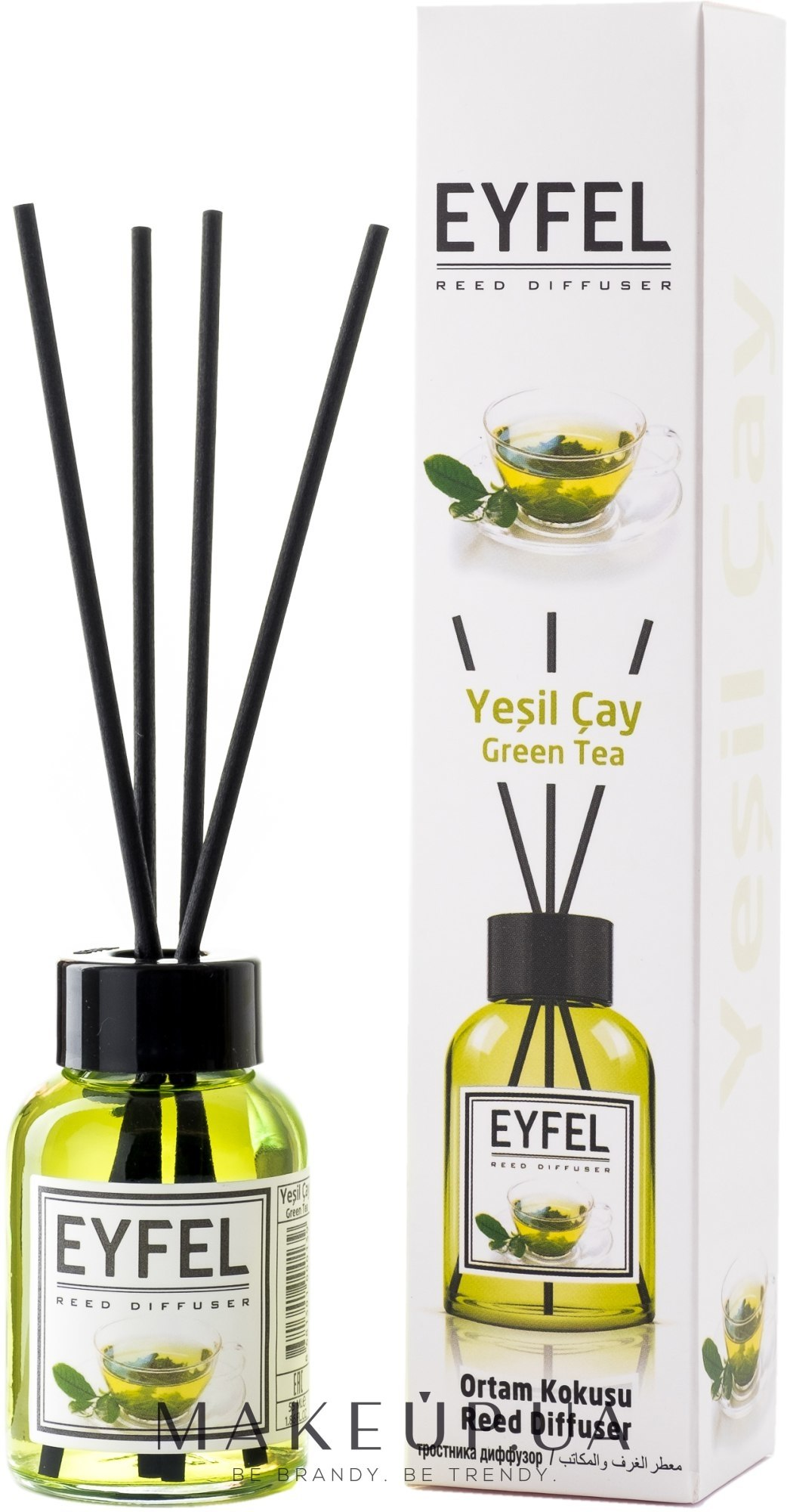 "Аромадиффузор ""Green tea"" - Eyfel Perfume Reed Diffuser Green tea — фото 55ml"
