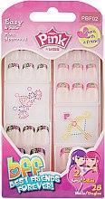 """Парфумерія, косметика Дитячий набір накладних нігтів """"Краща подруга назавжди"""" - Kiss Pink Sticker Nails"""