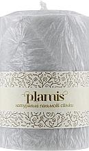 Духи, Парфюмерия, косметика Декоративная пальмовая свеча, светло-серая - Plamis