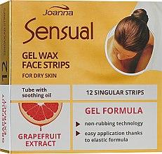 Духи, Парфюмерия, косметика Пластырь с воском для депиляции лица с экстрактом грейпфрута - Joanna Sensual Gel Wax Face Strips