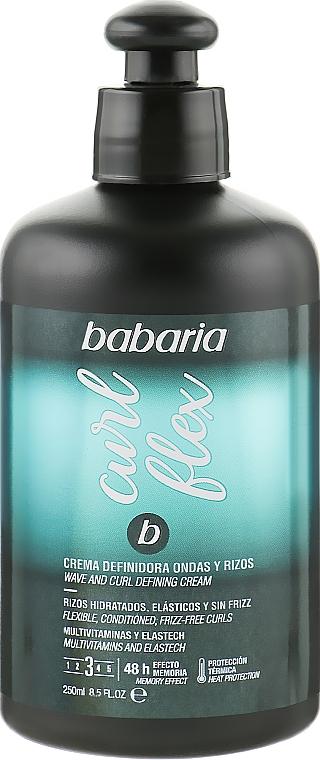 Крем для вьющихся и волнистых волос - Babaria Curl Flex Wave And Curl Defining Cream