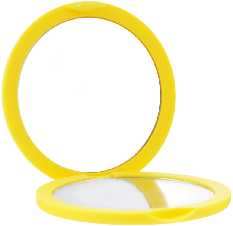Зеркало косметическое круглое, 85543, желтое - Top Choice
