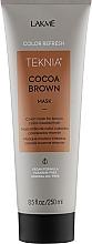 Духи, Парфюмерия, косметика Маска для обновления цвета коричневых оттенков волос - Lakme Teknia Color Refresh Cocoa Brown Mask