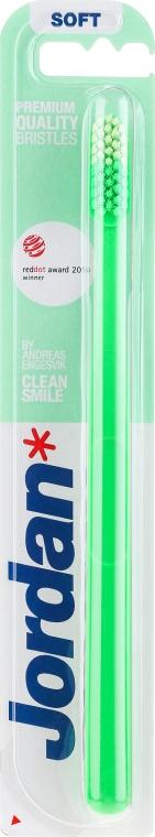 Зубная щетка Clean Smile, мягкая, зеленая - Jordan Clean Smile Soft