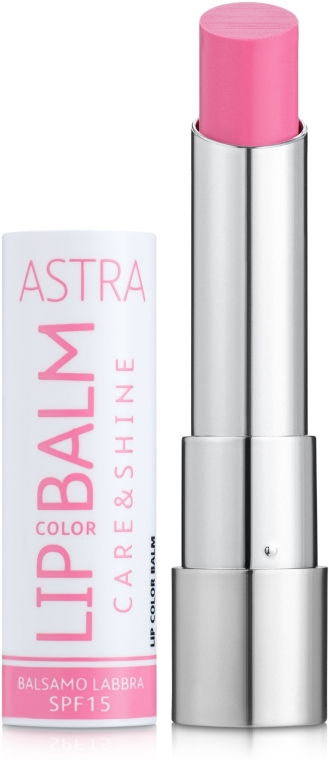 Бальзам для губ - Astra Make-Up Lip Color Balm Care & Shine