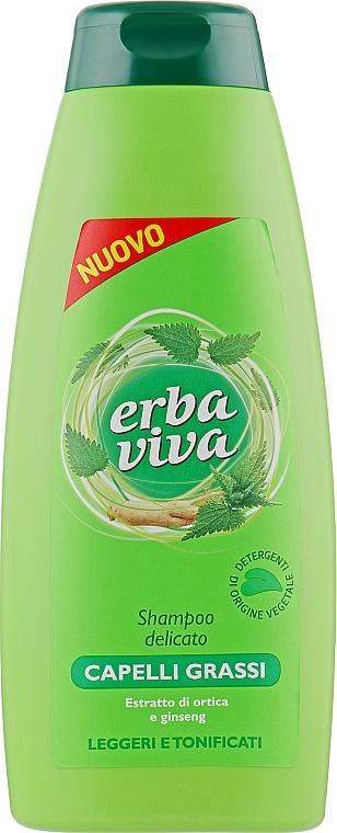 Шампунь для жирных волос с экстрактами женьшеня и крапивы - Erba Viva Hair Shampoo