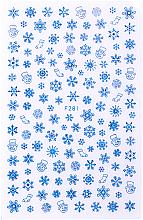 Парфумерія, косметика Наклейки для ногтей, синие, 80х130 мм - Vizavi Professional