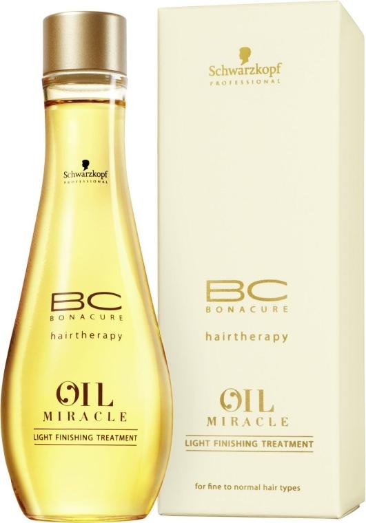 Маска-масло для тонких и нормальных волос - Schwarzkopf Professional ВС Bonacure Oil Miracle Light Finishing Treatment