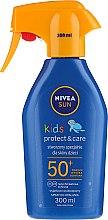 Духи, Парфюмерия, косметика Солнцезащитный спрей для детей SPF 50+ - Nivea Sun Kids SPF 50+ Caring Sun Spray
