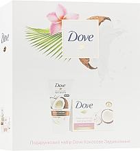 """Духи, Парфюмерия, косметика Набор """"Кокосовое удовольствие"""" - Dove (soap/135g + h/cr/75ml)"""