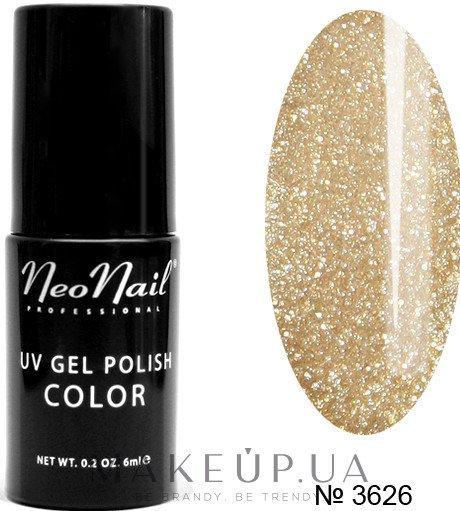 Гель-лак для нігтів - NeoNaiL Uv Gel Polish Color — фото 3626 - Glitter Gold