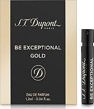 Духи, Парфюмерия, косметика S.T. Dupont Be Exceptional Gold - Парфюмированная вода (пробник)