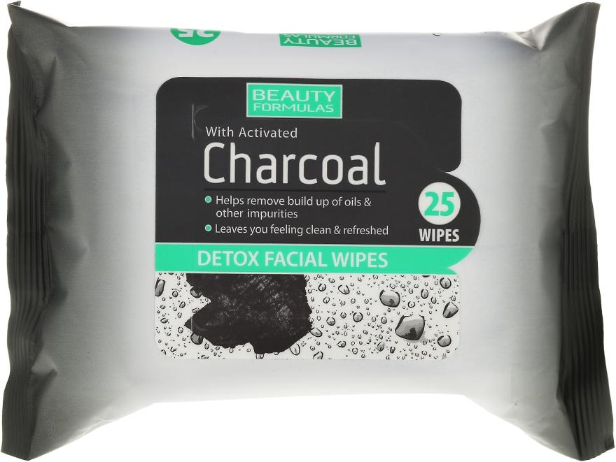 Очищающие салфетки для лица с активированным углем - Beauty Formulas Charcoal Detox Facical Wipes — фото N1