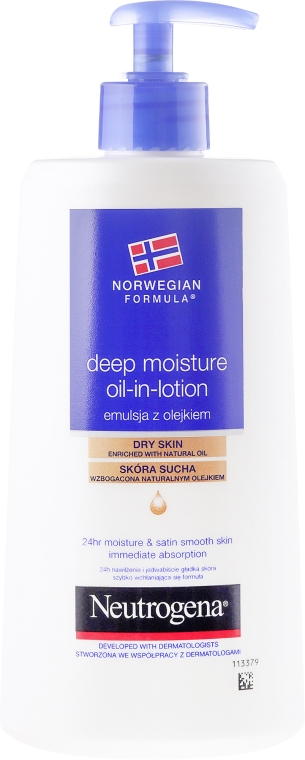 Эмульсия для тела - Neutrogena Deep Moisture Creamy Oil