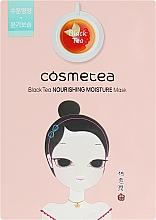 Духи, Парфюмерия, косметика Интенсивно увлажняющая тканевая маска с экстрактом черного чая - Cosmetea Black Tea Nourishing Moisture Mask