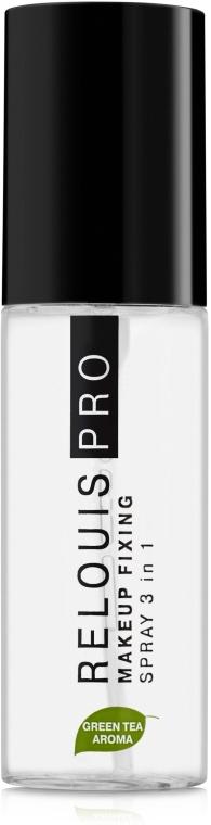 Многофункциональный спрей-фиксатор макияжа - Relouis Pro MakeUp Fixing Spray 3in1